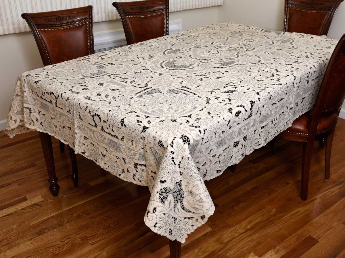 7909 Grape Design Hand Embroidered Tablecloth