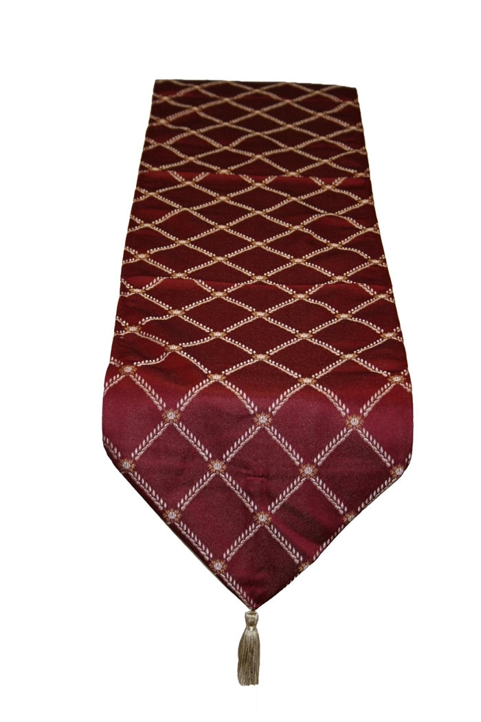 Diamond Damask Burgundy 13 Quot X 70 Quot Table Runner