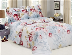 French Blossom 6 piece Luxurious Duvet sets,