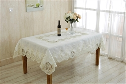 Heritage Macrema Lace tablecloth