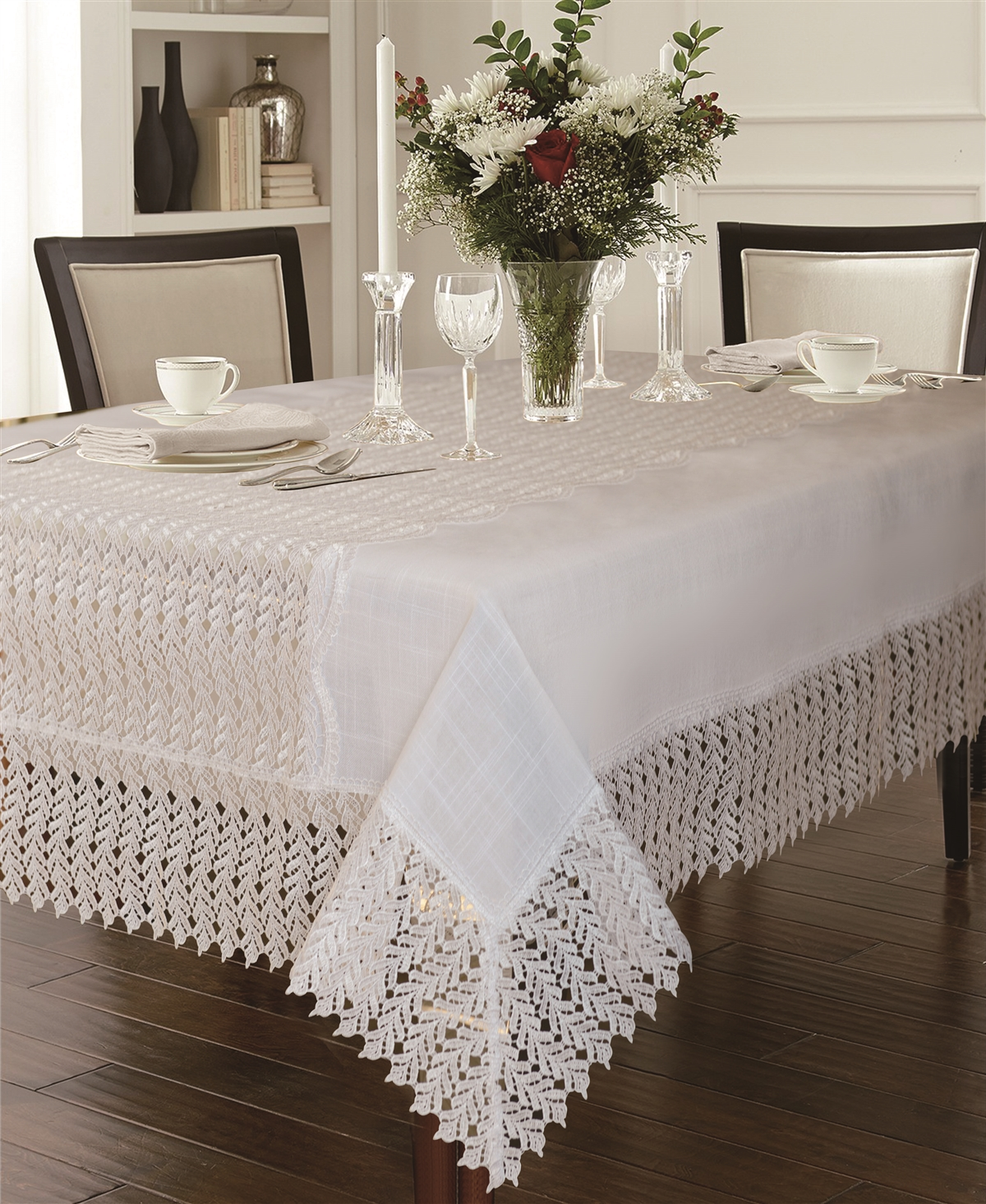 Lisbon Embroidered Tablecloth