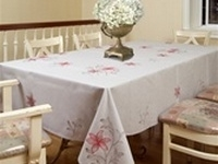 Red Lilies Embroidered Tablecloths
