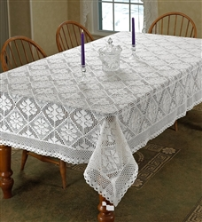 "Stars ""100% Cotton Crochet tablecloth"""