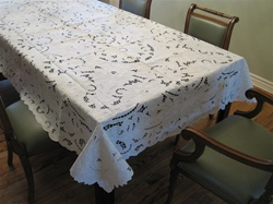 #5375 Hand Embroidered Tablecloth