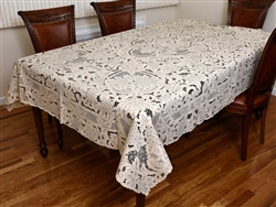 #7909 Grape Design Hand Embroidered Tablecloth
