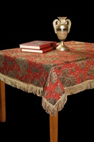 Chenille Paisley Tablecloths