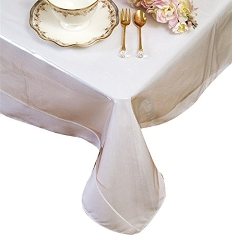 Crystal Clear Vinyl Tablecloth Protector Table Cover Various Sizes High Quality