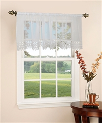 "Daisy Design sheer 60"" X 18"" Window Valance"