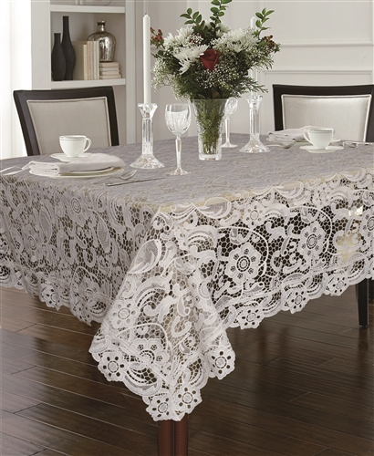 Daisy Cutwork  Embroidered Tablecloths