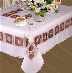 Emerald Embroidered Tablecloths