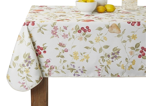 European White Fruit printed Tablecloths