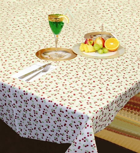 European Printed Reto Cherries Tablecloths