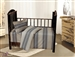 French Braided Stripe Crib Set