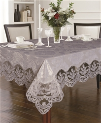 Fontainebleau Floral Embroidered Tablecloths