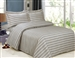 French Gold Grey Stripe 6 piece Luxurious Duvet sets,