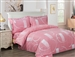 French Abstract Pink 6 piece Luxurious Duvet sets,