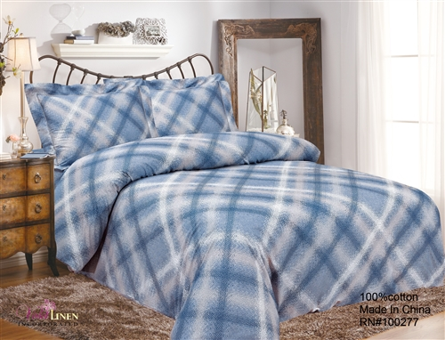 French Brown Blue Sky 6 Piece Duvet Set