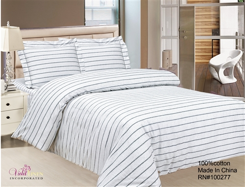 French Black Stripe 6 piece Luxurious Duvet sets,