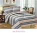 French Braided Stripe Quilt Set