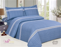 French Cheerful Blue Duvet Set