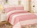French Cuddley Peach Quilt Set