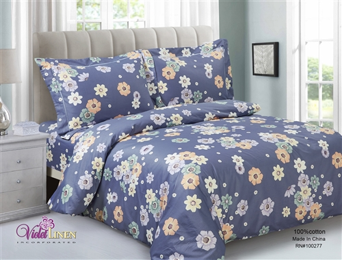French Daisy  6 piece Luxurious Duvet sets,