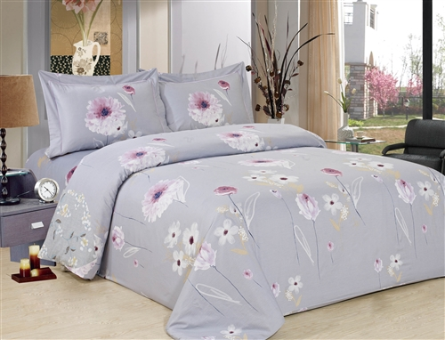 French Hydranges 8 piece Luxurious Duvet sets,