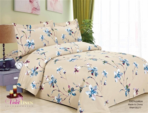 French Magnolia Cream 8 piece Luxurious Duvet sets,