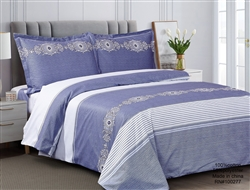 French Monogram Blue Luxurious Duvet sets,