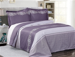French Monogram lilac Luxurious Duvet sets,
