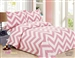 French Pink Wave Quilt Set