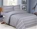 French Pleasant Grey Stripe 6 piece Luxurious Duvet sets,