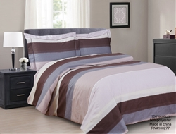 French Yardley Stripe 6 piece Luxurious Duvet sets,