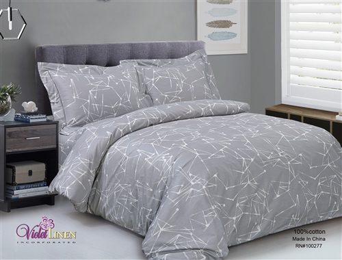 French Chain Stripe 6 Piece Duvet Set