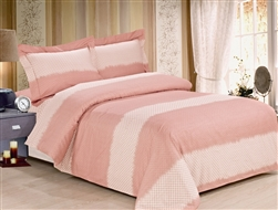 French Cuddly Peach 6 Piece Duvet Set