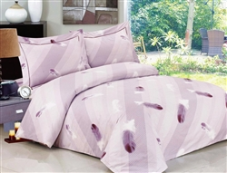 French Feathers 6 Piece Duvet Set