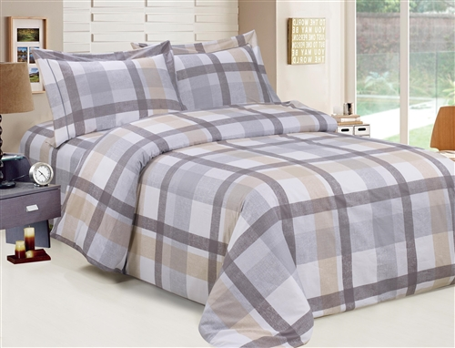 French Oscar Plaid 6 Piece Duvet Set