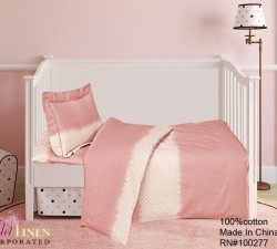 French Cuddley Peach Crib Set