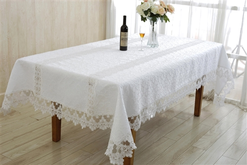Glory Jacquard & Lace tablecloth