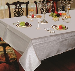 Hotel Metallic Tablecloth - Liner in Silver