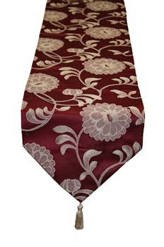 "Legacy Damask Burgundy 13"" X 70"" Table runner"