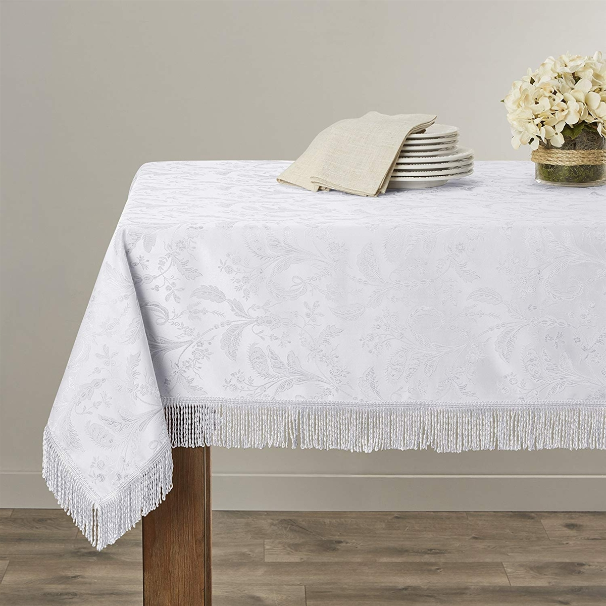 drape in skirt chiffon table tableclothpleated main all ivory pleated ft tablecloth cloths