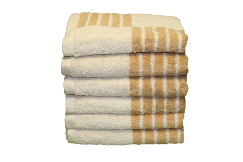 "Majestic Taupe 20"" X 30"" 100% Cotton 6-Piece Hand Towel Set."