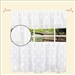 "Ornate Design Sheer 3pc Kitchen Curtain Set  18*60"" Valance + 2pcs 30*36"" Tiers."