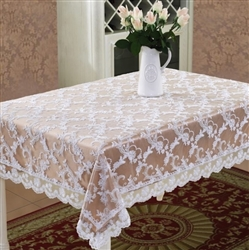 Royal Lace Embroidered Tablecloth