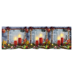 "Seasonal Glories Window Treatment Valances, 60"" X 15"","