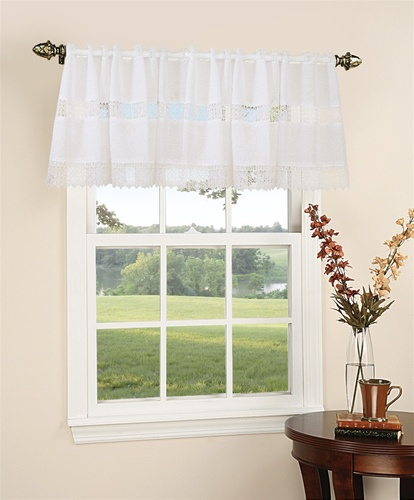 "Treasure Design sheer 60"" X 18"" Window Valance"