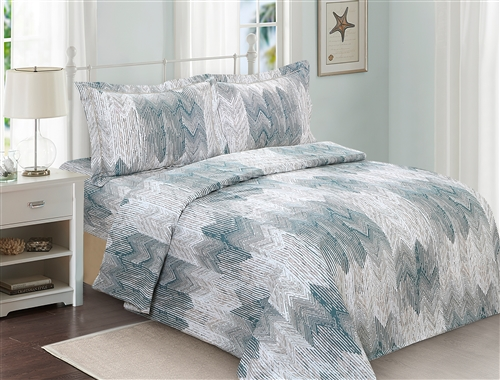 French New Waves 6 piece duvet sets